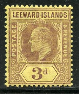Leeward Islands # 34, Mint Hinge. CV $ 3.75