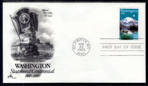 US 2404 Washington Statehood Artcraft U/A FDC