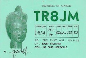 9771 Amateur Radio QSL Card LIBREVILE GABON
