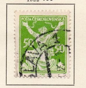 Czechoslovakia 1922 Early Issue Fine Used 50h. 142506