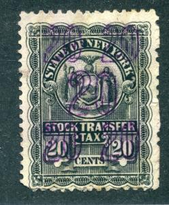 NY ST44 -20c - Used - New York Stock Transfer