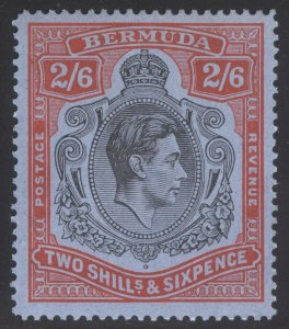 Bermuda 1942 2s6d LINE PERF 14.25 SG 117a Scott 124 var UMM/MNH Cat £600($792)++