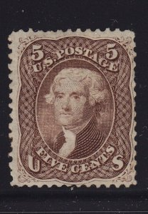 76 F-VF unused ( mint regummed ) with nice color cv $ 550 ! see pic !