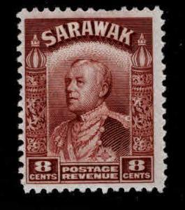 SARAWAK Scott 118 MH* stamp hinge remnant