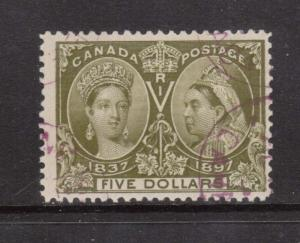 Canada #65 Used With Choice Magenta Purple Cancel  **With Certificate**