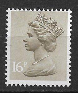 1976 Great Britain Machins #MH94 Queen Elizabeth 16p MNH