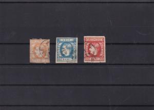romania 1869 used  imperf  stamps cat £150  ref 11470