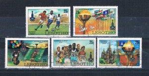 Lesotho 291-95 Used set Olympics 1980 (L0697)+