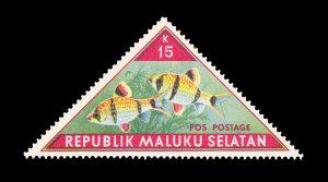 REPUBLIC OF SOUTH MALUKU STAMP. TOPIC: FISH. UNUSED. ITEM 15K