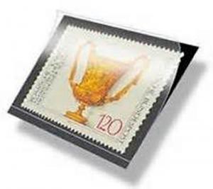 Hawid Stamp Mounts Size 78/210 BLACK Background Pack of 10