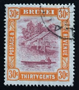 Brunei 1908 definitive 30c Used SG#44 M2005