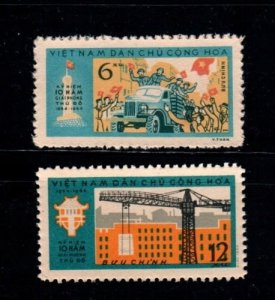 Vietnam 1964 MNH Stamps Scott 318-319 Liberation of Hanoi Car Truck Soldiers