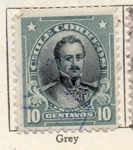 Chile 1911 Early Issue Fine Used 10c. NW-11440
