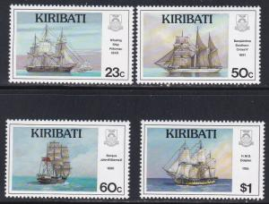 Kiribati # 687-690, Sailing Ships, NH 1/2 Cat