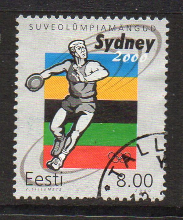 Estonia Sc 399 2000 Sydney Olympics stamp used