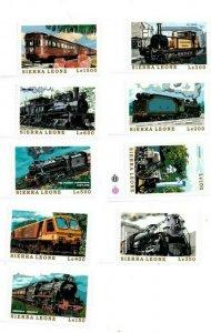 Sierra Leone MNH Set Of 9 Trains CHOO!!! CHOO!!!!!