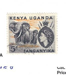 Kenya,Uganda,Tanzania, 115, Elephants Single, Used