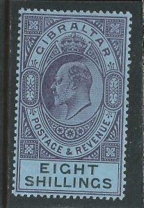 GIBRALTAR 1903 8s DULL PURPLE & BLACK/BLUE LMM SG 54 CAT £170