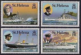 ST. HELENA Sc.# 475-78 Royal Visit (Ships) Mint NH Stamps