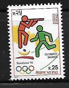 NEPAL, 516, MINT HINGED , 1992 SUMMER OLYMPICS BARCELONA