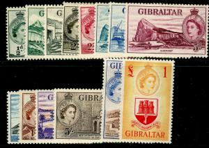 GIBRALTAR SG145-185, COMPLETE SET, LH MINT. Cat £180.