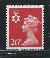 Great Britain Northern Ireland NIMH46 s.g. NI60 26p Machin