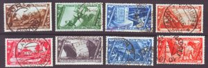 J22572 Jlstamps 1932 italy part of set used #290,294,296,298-302 designs