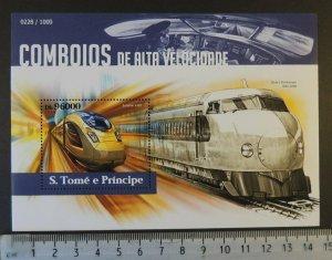 St Thomas 2015 high speed trains railways transport shinkansen eurostar s/s