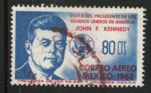 MEXICO Scott C262 used 1962 JFK Kennedy airmail