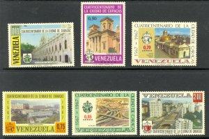VENEZUELA 1967 CARACAS VIEWS Airmail Set Sc C977-C982 MNH