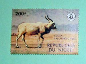 Niger - 451, MNH. Addax; WWF. SCV - $9.00