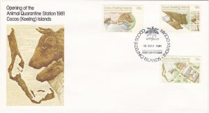 Cocos Islands # 65-67, Opening of Quarantine Station, First Day Cover