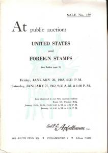 Apfelbaum: Sale # 189  -  United States and Foreign Stamp...