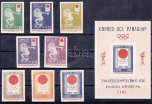 Paraguay stamp Tokyo Summer Olympics imperf. set+imperf. block MNH 1964 WS115141