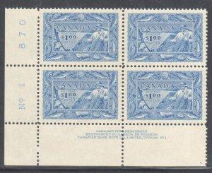 Canada #302 Mint LL XF NH Block of 4 -   C$300.00