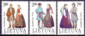 Lithuania. 1992. 508-10. National costumes. MNH.