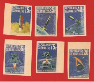 Gabon #C108-C108E MVFLH OG  imperforate Apollo 14  Free S/H