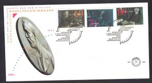 Netherlands 1991  FDC 286  Nobel prize winners