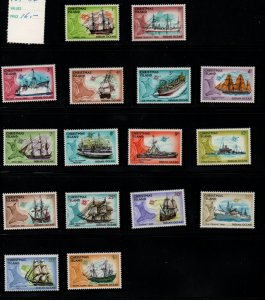 Christmas Island Sc 39-54 1972 Ships & Map stamp set mint NH
