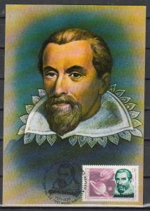 Romania, 05/FEB/91. Johannes Kepler value on a Max. Card. Not First Day.