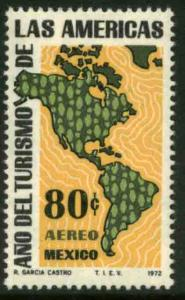MEXICO C413, Tourism Year of the Americas MINT, NEVER HINGED. VF..
