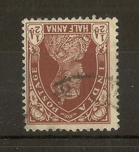 India 1937 0.5A Inverted Watermark SG248A Fine Used Cat£250