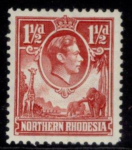 NORTHERN RHODESIA GVI SG29, 1½d carmine-red, M MINT. Cat £50.