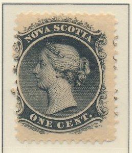 Nova Scotia (Canada) Stamp Scott #8, Mint Hinged, Original Gum - Free U.S. Sh...