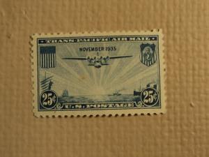 USPS Scott C20 25c Trans Pacific Air Mail November 1935 M...