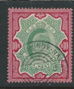 INDIA 1902-11 10r GREEN & CARMINE FU SG 144 CAT £50