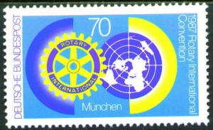 Germany Scott 1511 Mint No Gum MNG 1987 Rotary Intl. stamp