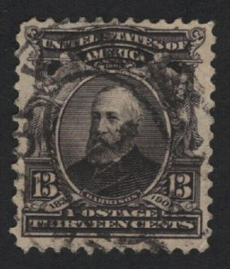 United States USED Scott Number 308  F-VF  #4  - BARNEYS
