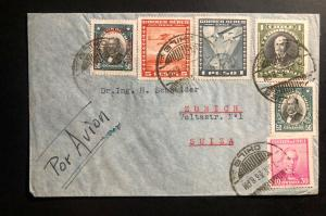 1936 Los Andes PO Chile Airmail Cover to Zurich Switzerland