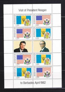 Barbados 581-582 Complete Sheets Set MNH Flags, 2 Scans